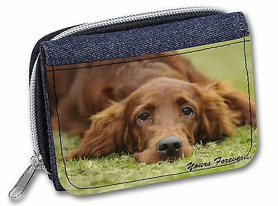 Red Setter Dog 'Yours Forever' Girls/Ladies Denim Purse Wallet Christ, AD-RS2yJW