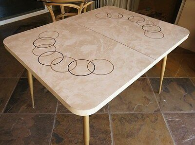 50's Mid-Century Retro Formica Deco Dining Kitchen Table