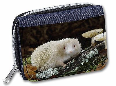 Albino Hedgehog Wildlife Girls//Ladies Denim Purse Wallet Christmas Gift AHE-1JW