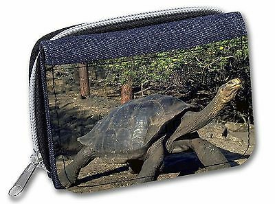 Giant Galapagos Tortoise Girls/Ladies Denim Purse Wallet Christmas Gif, AR-T10JW