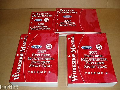 2007 Ford Explorer Sport Trac Mountaineer wiring service shop repair manual