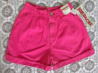 NOS Vtg JORDACHE 80s Pink HIGH WAIST Punk Grunge Pin Up Denim Jean Shorts 8 NWT