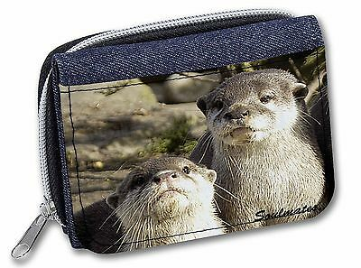 Cute Otters 'Soulmates' Girls/Ladies Denim Purse Wallet Christmas Gif, SOUL-72JW