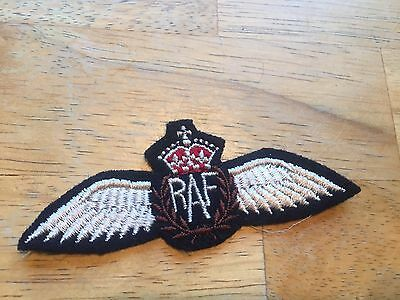 WWII British RAF Wings Patch , cheese cloth back