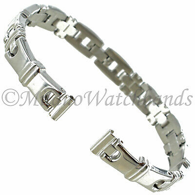 8mm Speidel Silver Stainless Steel Center Fold Clasp Ladies Watch Band 1897/00