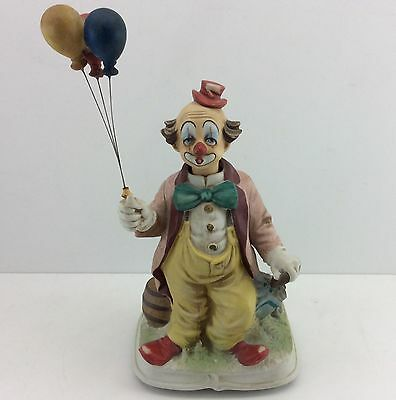 MELODY IN MOTION / WACO Vintage CLOWN WITH BALLOONS Porcelain MUSIC BOX BASE