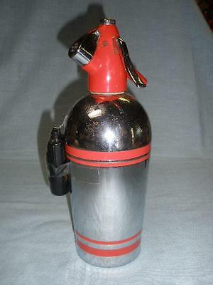 Retro Silver And Red Soda Syphon Sparklets S 62 England