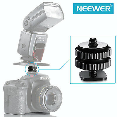 """New 1/4"""" Mount Adapter for Tripod Screw To Flash Hot Shoe Black UD#20"""