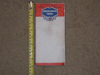 Rare Old Vintage Map Consolidated Tours Hotel Directory Empire Group The East