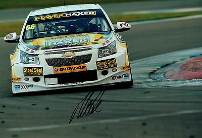Josh COOK SIGNED 12x8 Photo AFTAL Autograph COA British Touring Car Driver