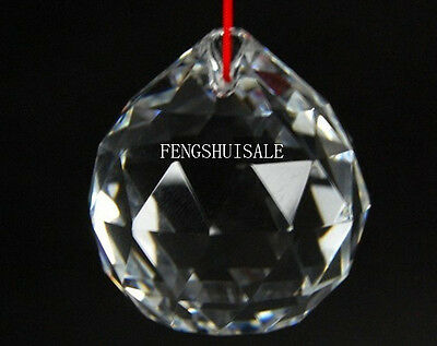 FENG SHUI CLEAR CRYSTAL SPHERE Prism Chi Ball Gift 30MM J2290