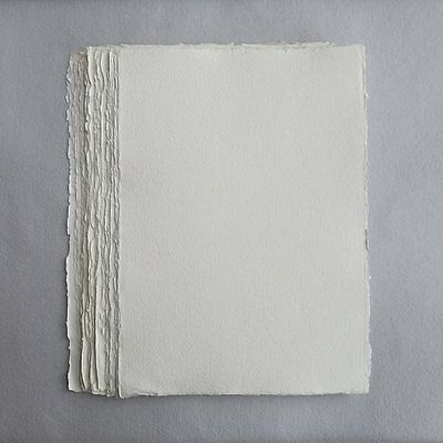 Khadi White Cotton Paper Pack 320gsm A4 100 Sheets. Artists Handmade Paper.