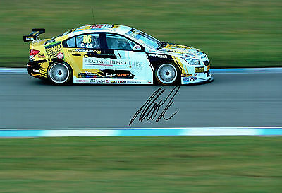 Josh COOK SIGNED 12x8 Race Photo AFTAL Autograph COA British Touring Car Driver