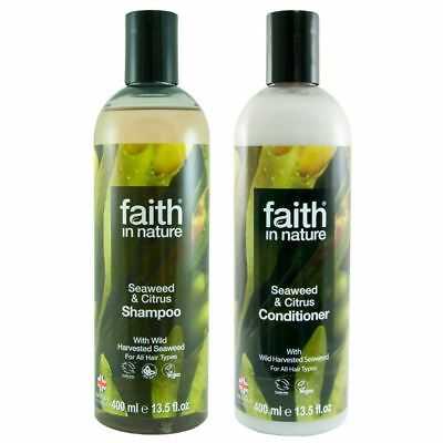 Faith In Nature Seaweed and Citrus Shampoo and Conditioner  Duo Pack