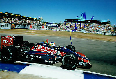 Yannick DALMAS SIGNED 12x8 Race Photo AFTAL Autograph COA Grand Prix Driver F1
