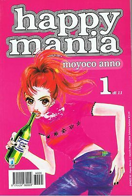Happy Mania  N. 1 - 2 - 3 Moyoco Anno Star Comics Nuovi