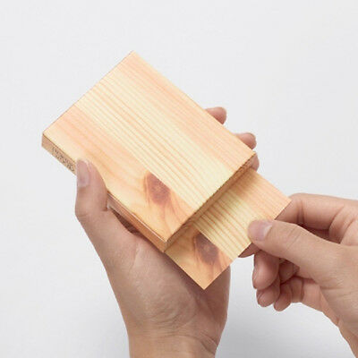 Unique Wood Piece Shaped Memo Pad Writing Notes Paper Stationery Office Supplies