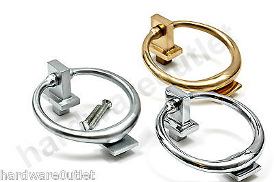 RING Front DOOR KNOCKER Polished Brass, Polished or Satin Brushed Chrome