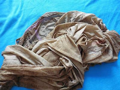 Ultra large long Indian Pakistani dupatta scarf used as sofa drape Asian brown