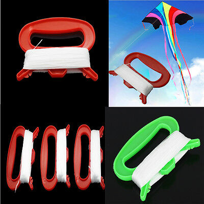 100M White Outdoor Flying Kite String Line Strong D Shape Winder Board hot