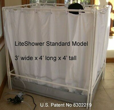 LiteShower Wheelchair Accessible Portable Shower Stall Standard Model