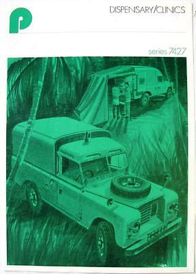 LAND ROVER Dispensary/Clinics Pilcher Series 7427 - Car Sales Brochure - 1976