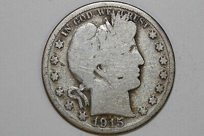 Great value 1915 S Good Barber or Liberty Half Dollar 90% Silver Coin BARH750
