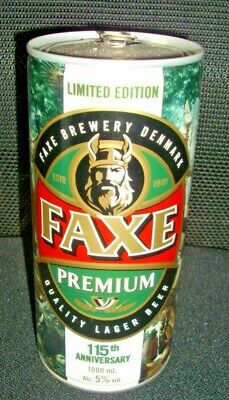 Lattina Birra Faxe Premium Limited Edition 1000 Ml 115Th Anniversary Vuota