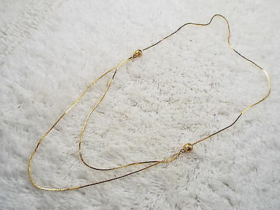 Goldtone Adjustable Chain Necklace (C14)