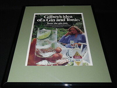 1981 Gilbey's Gin Framed 11x14 ORIGINAL Vintage Advertisement C