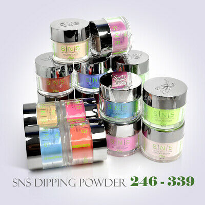 SNS Nail Color DIPPING POWDER No Liquid,No Primer,No UV Light U Pick 1oz 246-339