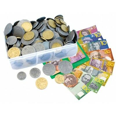 *NEW* A TUB of Big Australian Based Pretend Play Money - 100 Notes & 340 Coins