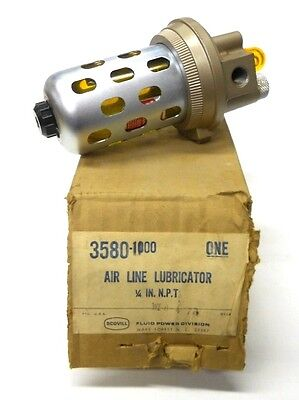 "Scovill Schrader Bellows Air Line Lubricator 3580-1000, 1/4"" Npt, W/bowl Gaurd"