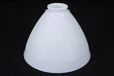 "Milk Glass Diffuser Shade Torchiere 8"" D & 2 1/4"" Fitter Waffle Texture"