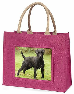 Fell Terrier Dog Large Pink Shopping Bag Christmas Present Idea, AD-FT1BLP