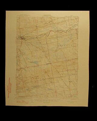 Dover Foxcroft Maine 1947 vintage USGS Topographical chart map