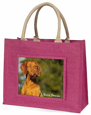 Wirehair Vizsa 'Yours Forever' Large Pink Shopping Bag Christmas Pr, AD-HWV1yBLP