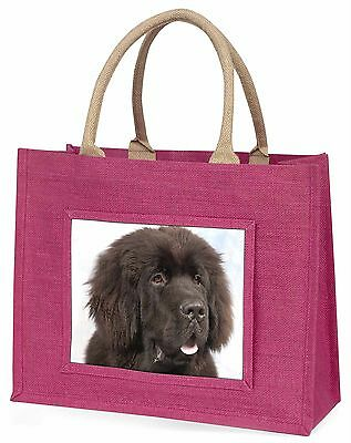 Newfoundland Dog Large Pink Shopping Bag Christmas Present Idea, AD-NF1BLP