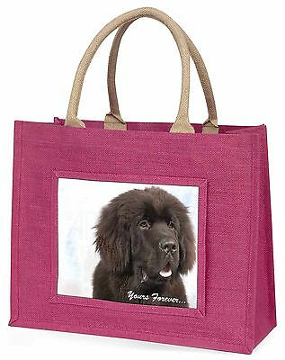 Newfoundland Dog 'Yours Forever Large Pink Shopping Bag Christmas Pre, AD-NF3BLP