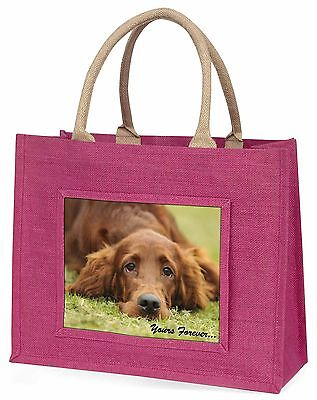 Red Setter Dog 'Yours Forever' Large Pink Shopping Bag Christmas Pre, AD-RS2yBLP
