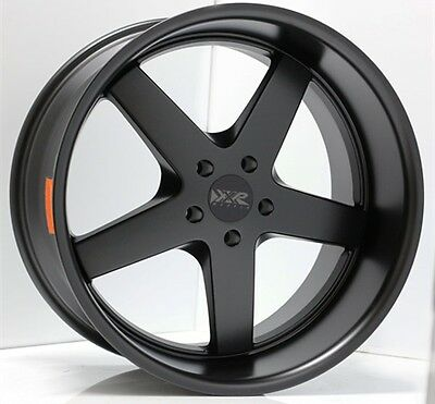 20 Inch Xxr 968 Matt Black Wheels And Tyre Package Stretch Tyres Bbs Style