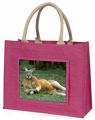 Cheeky Kangaroo Large Pink Shopping Bag Christmas Present Idea, AK-1BLP