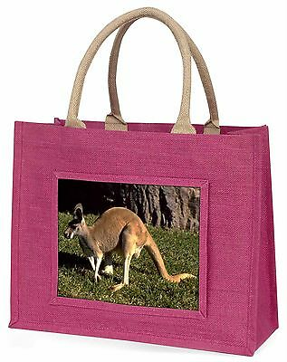 Kangaroo Large Pink Shopping Bag Christmas Present Idea, AK-2BLP
