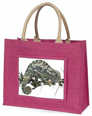 Chameleon Lizard Large Pink Shopping Bag Christmas Present Idea, AR-L5BLP