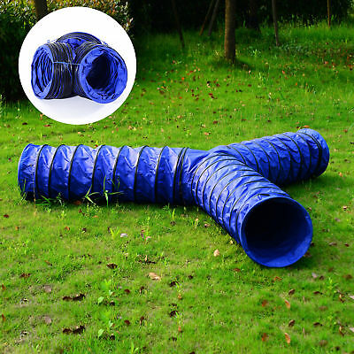 Dog Cat Training Tunnel 3 Ways Agility Exercise Collapsible Folding Pet Play Toy