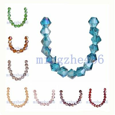 Wholeasle 100pcs Bicone Faceted Crystal Glass Bead 5301# Loose Spacer Beads 4mm