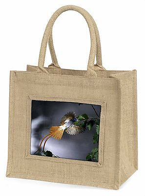 Humming Bird Large Natural Jute Shopping Bag Christmas Gift Idea, AB-91BLN