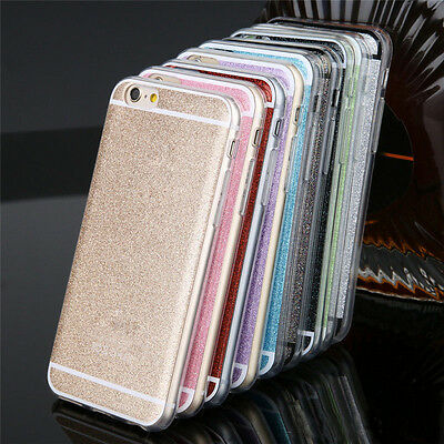 Luxury Bling Glitter Back Soft Phone Case Cover For Apple iPhone 5/6//6s/6 Plus