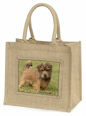 Norfolk Norwich Terrier 'Love You Mum' Large Natural Jute Shopping, AD-NT1lymBLN