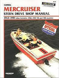 MERCRUISER Workshop Manual Book 1964 TO 1987 CB740 CLYMER Covers Drive & Engine